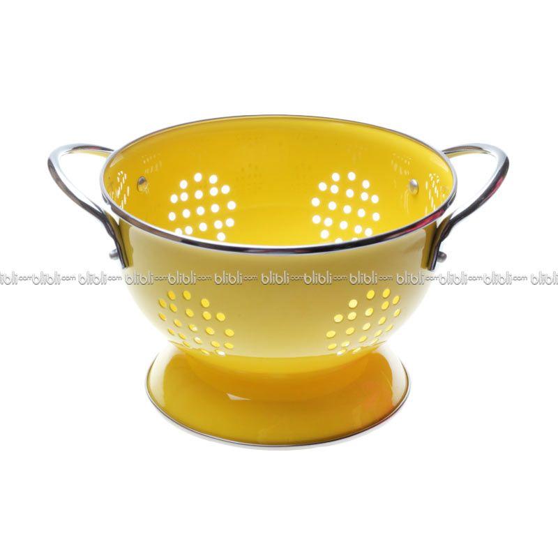 Cooks Habit Colander 1.2 QT Coating Yellow