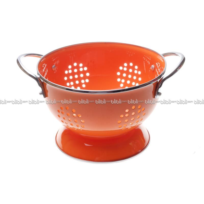 Cooks Habit Colander 1.2 QT Coating Orange