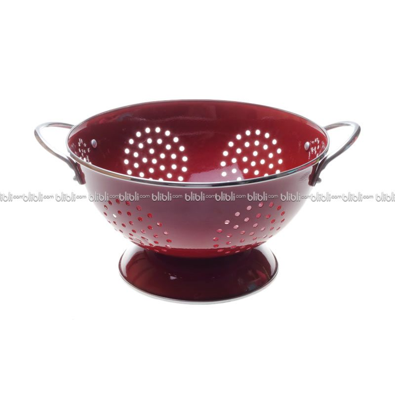 Cooks Habit Colander 3 QT Coating Red
