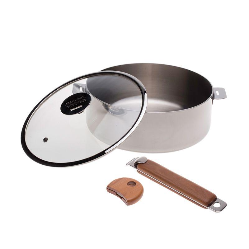 Cooks Habit Declad Covered Skillet Panci [24 x 8.5 cm]