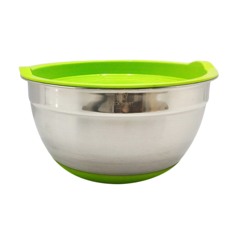 Jual Cooks Habit Covered SS Mixing Bowl With Silicone