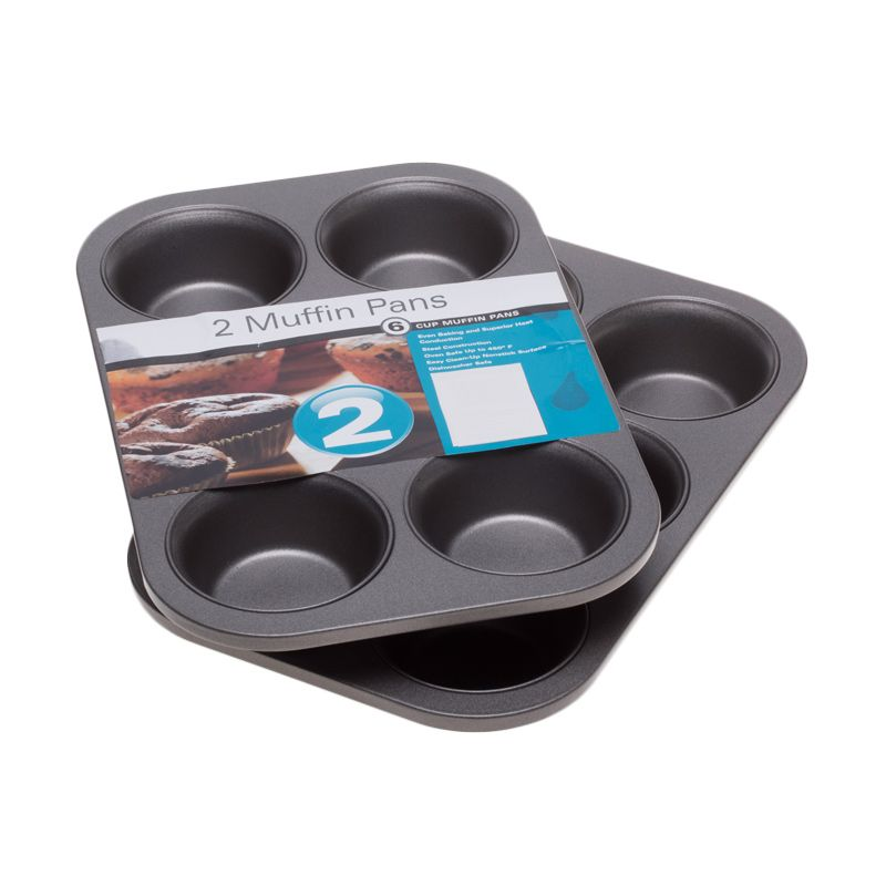 Cooks Habit Muffin Pan 6 Cup Loyang Kue [3 Inch/2 Pcs]