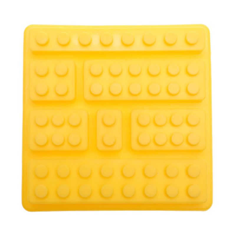 Cooks Habit Silicone Mould 7 Holes Lego Block Yellow Cetakan Kue