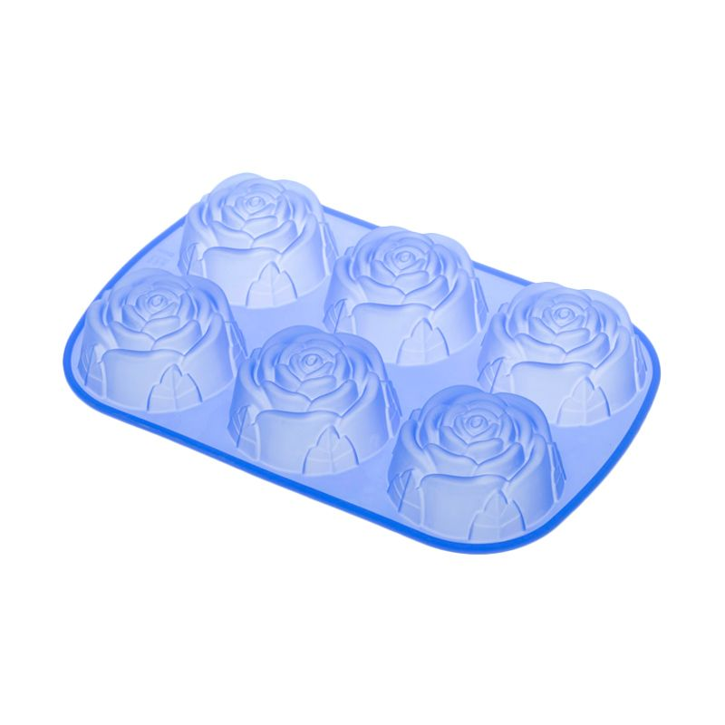 Cooks Habit Silicone Mould Roses Blue Cetakan Kue