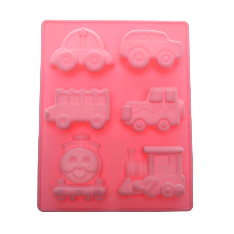 Cooks Habit Silicone Mould Set of 6 Cars Pink Cetakan Kue