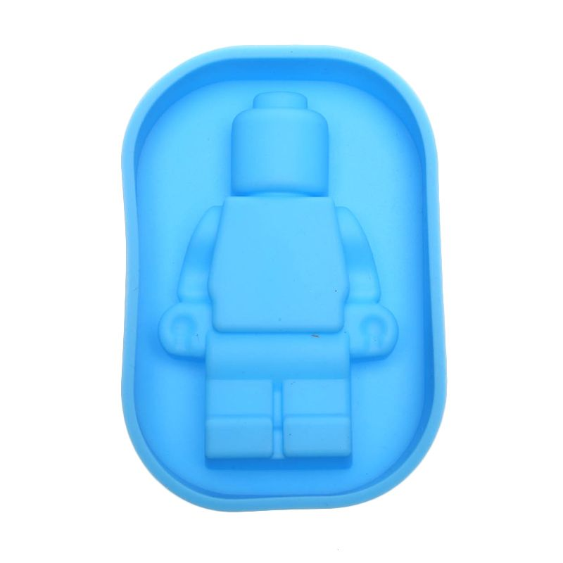 Cooks Habit Silicone Mould Smaller Guy Blue Cetakan Kue