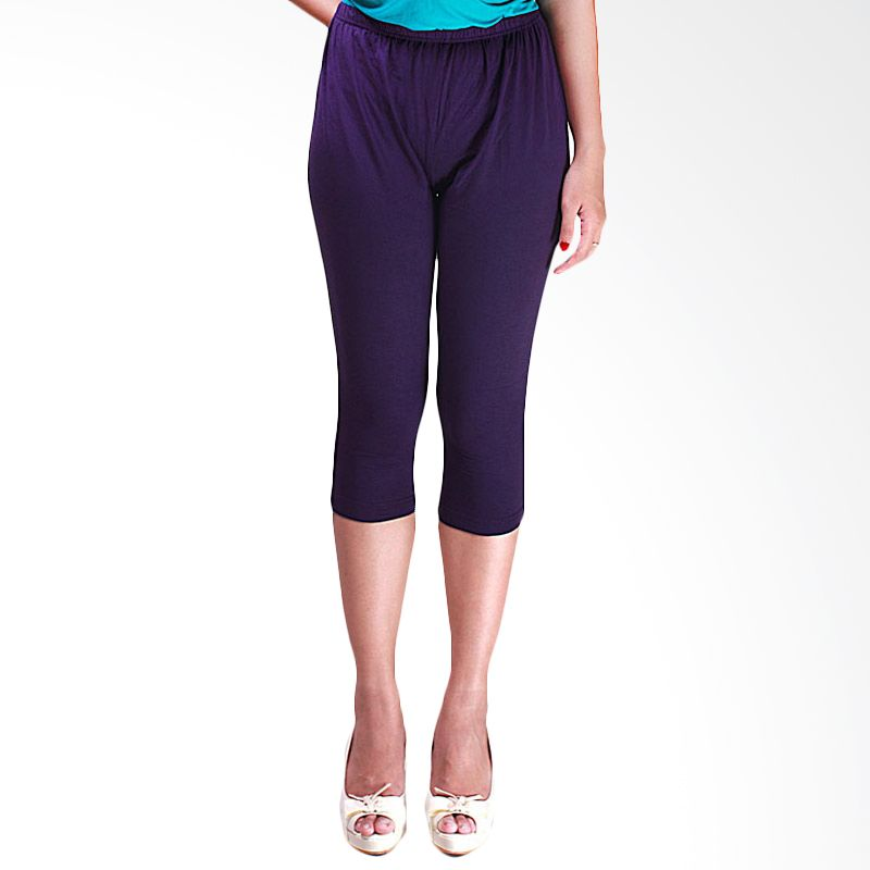 Copas Special Purple Cotton Spandex 7/8 Legging
