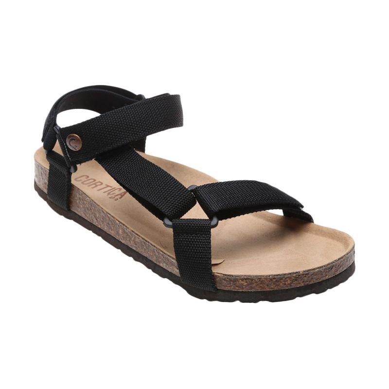 Cortica Keros CM-3001 Black Sandal Pria