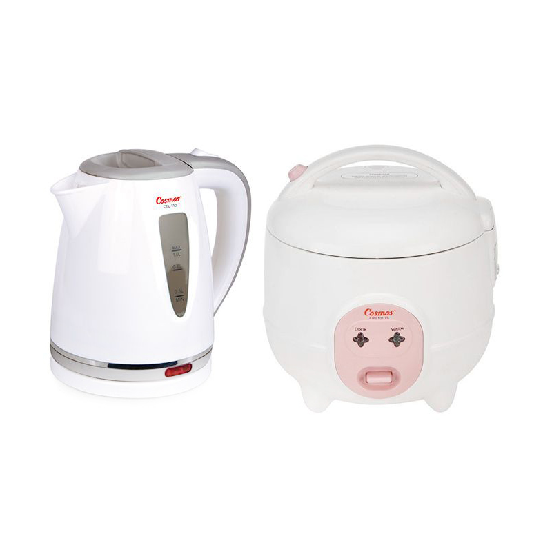 Program Bundling Cosmos CRJ-101 Rice Cooker & Cosmos CTL-110 Electric Kettle