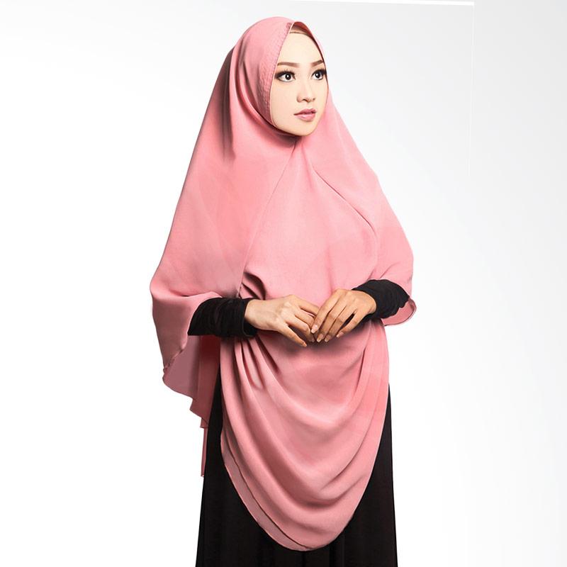 Cotton Bee Khimar Draperry Hijab Syar'i - Dusty Pink