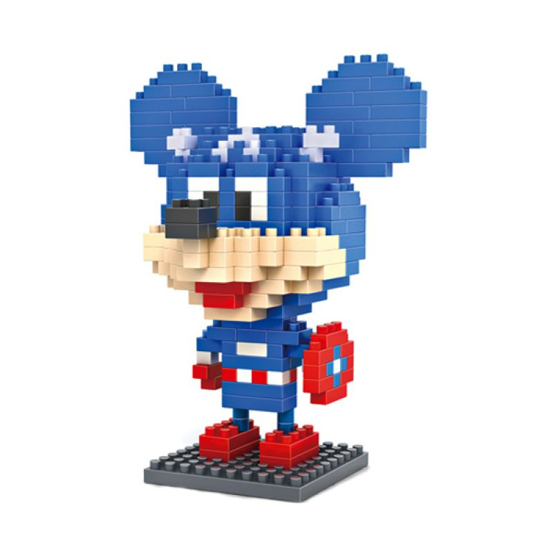 Loz Captain America Mickey Diamond 9421 Mainan Block dan Puzzle [Large]