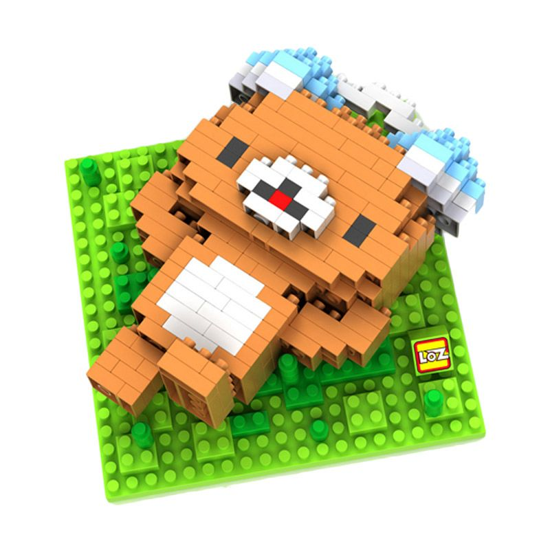 Loz Gift Brown Bear Listening 9434 Diamond Mainan Blok dan Puzzle [Large]