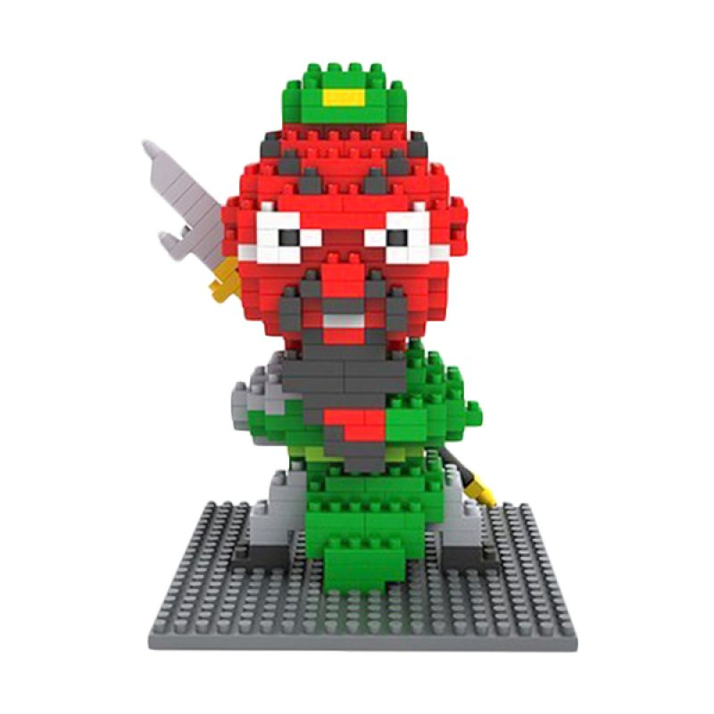 Loz Gift Guan Yu 3 Kingdom 9424 Diamond Mainan Blok dan Puzzle [Large]
