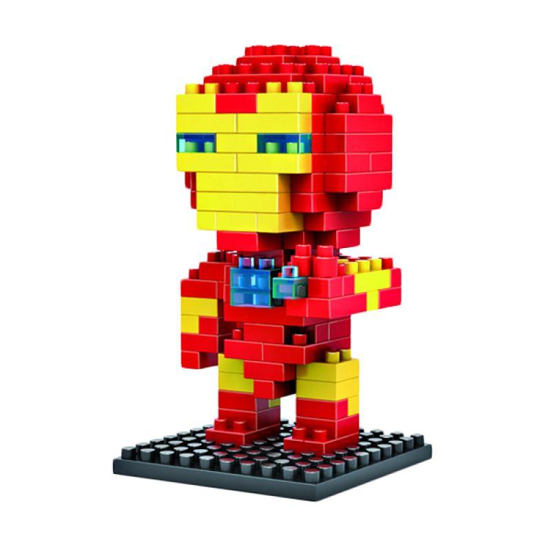 LOZ Gift Medium 9158 Iron Man Diamond Blocks Mainan Blok & Puzzle