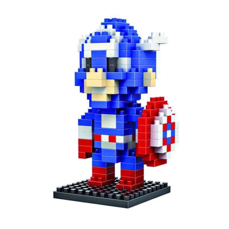 LOZ Gift Medium 9159 Captain America Diamond Blocks Mainan Blok & Puzzle