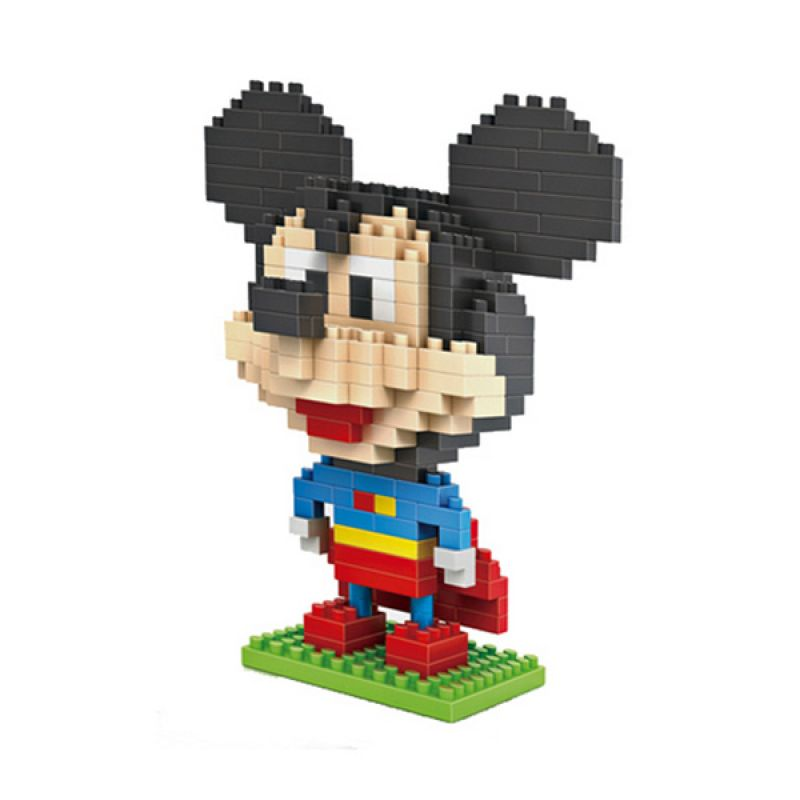 Loz Superman Mickey Diamond 9419 Mainan Block dan Puzzle [Large]