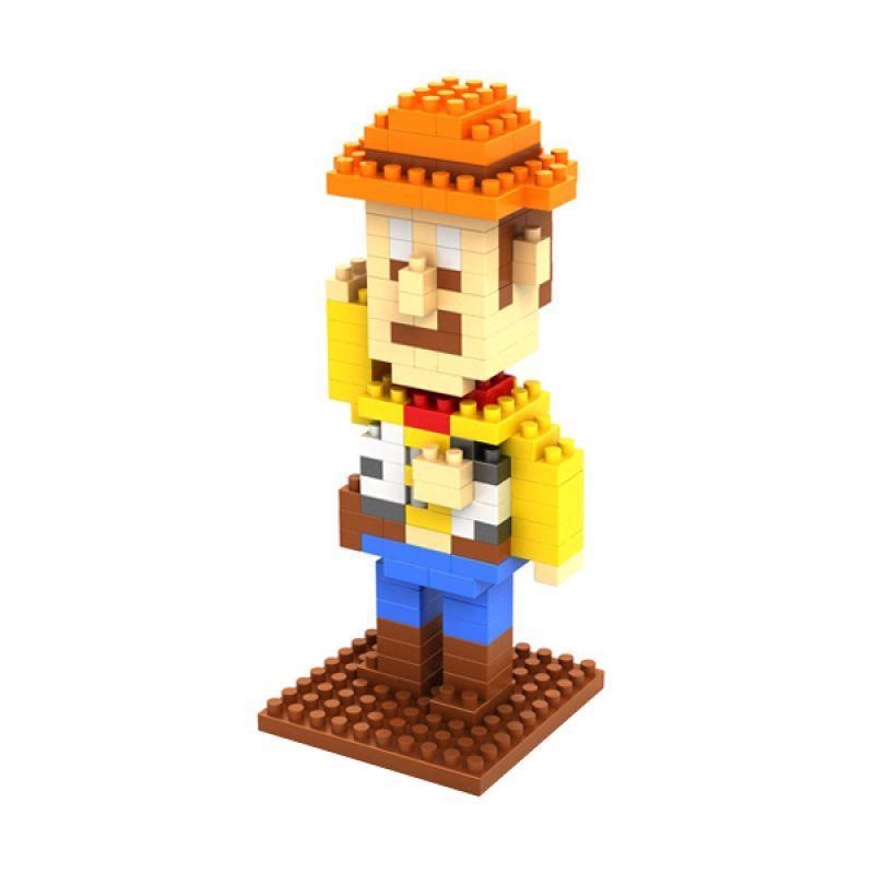 Loz Woody Toys Story 9128 Diamond Mainan Block dan Puzzle [Medium]