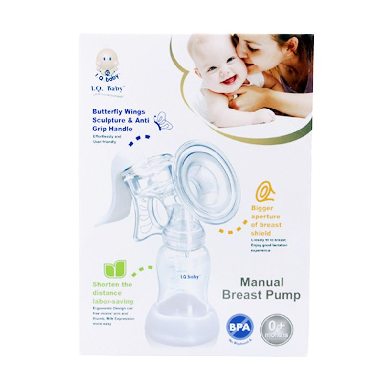 Monday Moms Day - IQ BABY Butterfly Wing Manual Breast Pump Pompa ASI