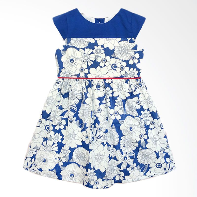 Cotton Pie Oriental Blue Dress Anak