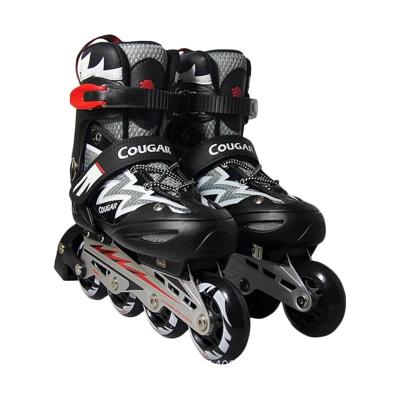 Cougar ADJ.Junior Inline Skate W/ABEC7 MS835L - Black White [34-37]
