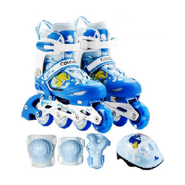 harga Cougar Inline Skate Combo Set Sepatu Roda Karakter - Blue Blibli.com