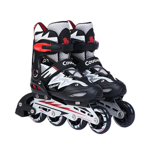 harga Cougar MZS835L Sepatu Roda Inline Skate - Black Silver Blibli.com