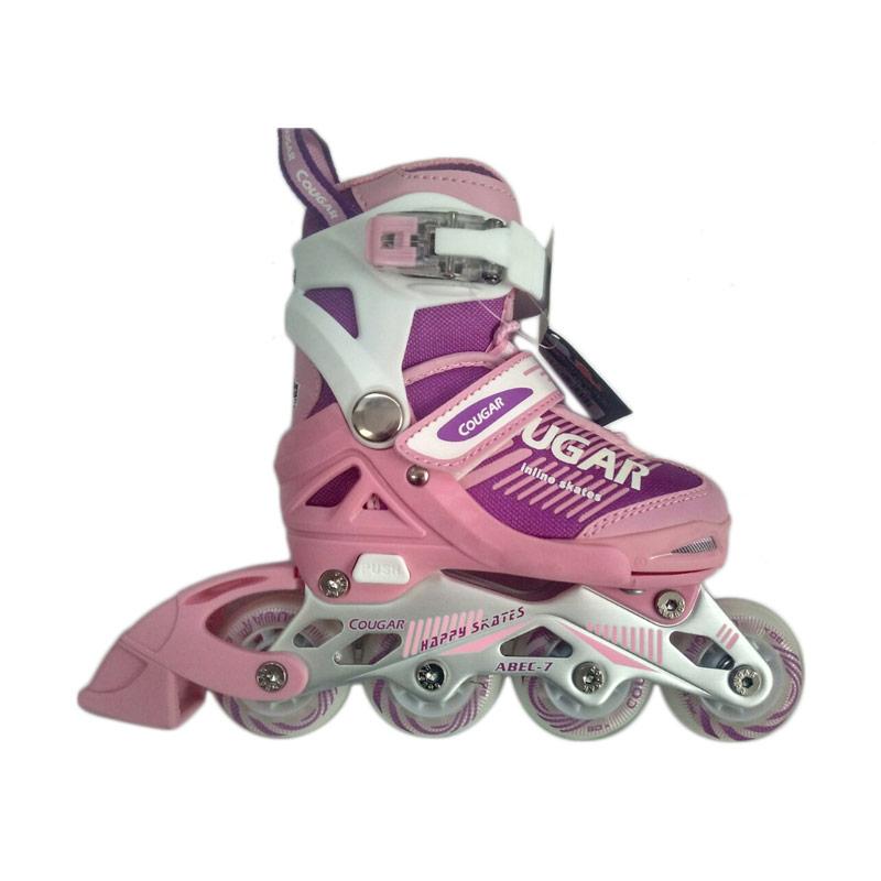 Cougar MZS853 ADJ.Inline Skate W/ABEC7 Sepatu Roda - Pink Purple [30 - 33]