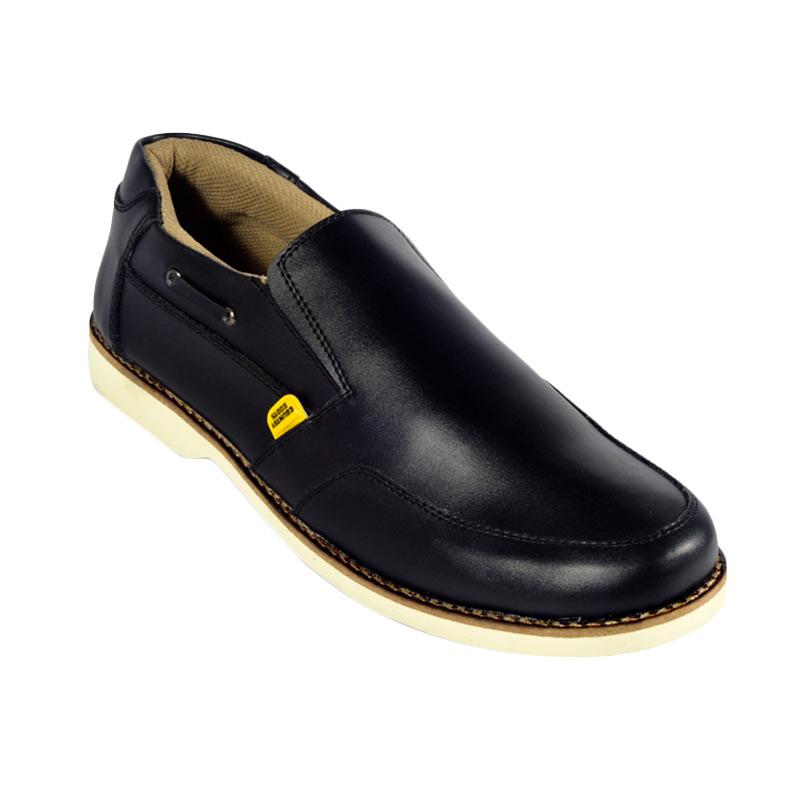 Country Boots Lizard Casual Sepatu Pria - Black