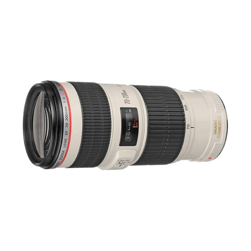 Canon EF 70-200mm F/4L IS USM Hitam Lensa Kamera