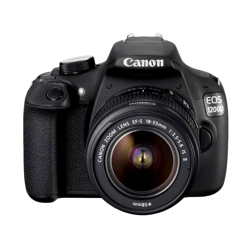 Canon EOS 1200D Kit 18-55mm f/3.5-5.6 IS II Hitam Kamera DSLR
