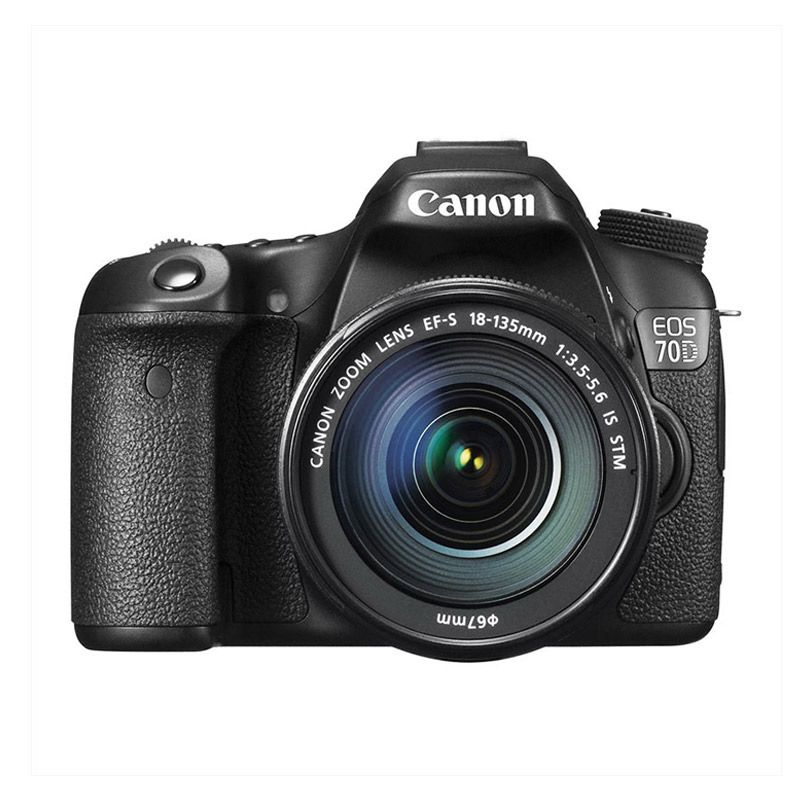 Canon EOS 70D Kit 18-135mm IS STM Hitam Kamera DSLR [WiFi]