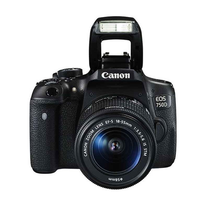 Canon EOS 750D Kit EF-S 18-55mm f/3.5-5.6 IS STM WiFi Kamera DSLR