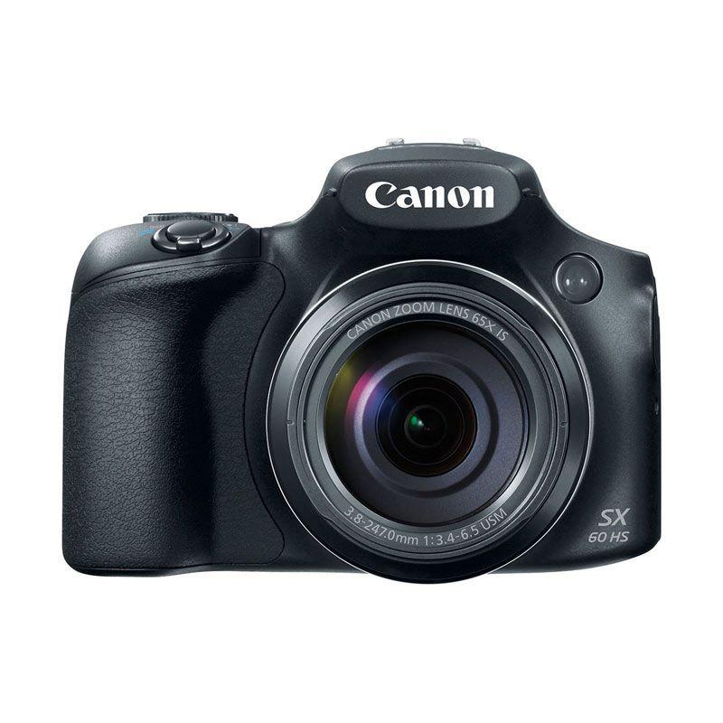 Canon PowerShot SX60 HS Hitam Kamera Pocket + Memory Card SDHC 8 GB
