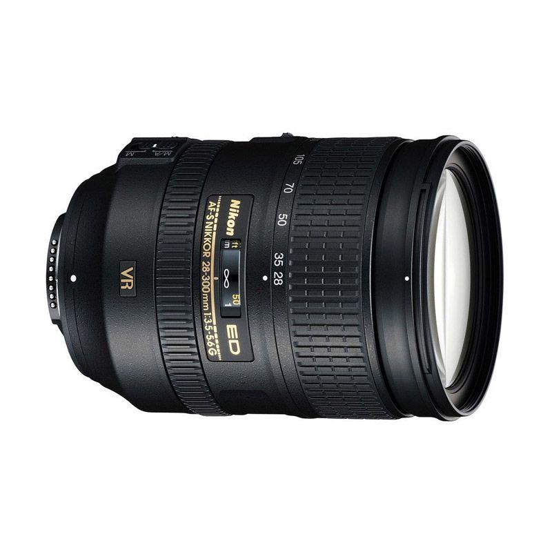 Nikon 28-300mm AF-S f/3.5-5.6 ED VR Hitam Lensa Kamera