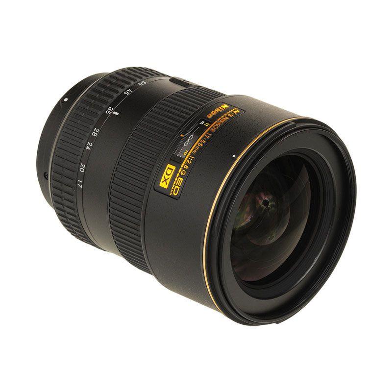 Nikon AF-S 17-55mm f/2.8G IF-ED DX Hitam Lensa Kamera