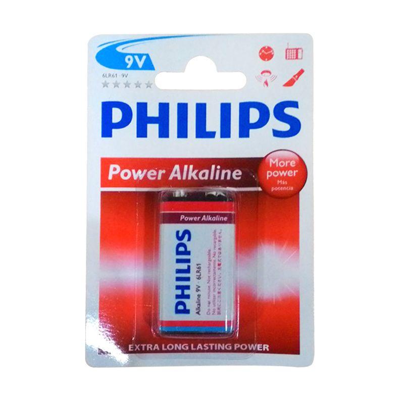 Philips Power Alkaline 9v 6LR61P1B or 97 Baterai Kamera