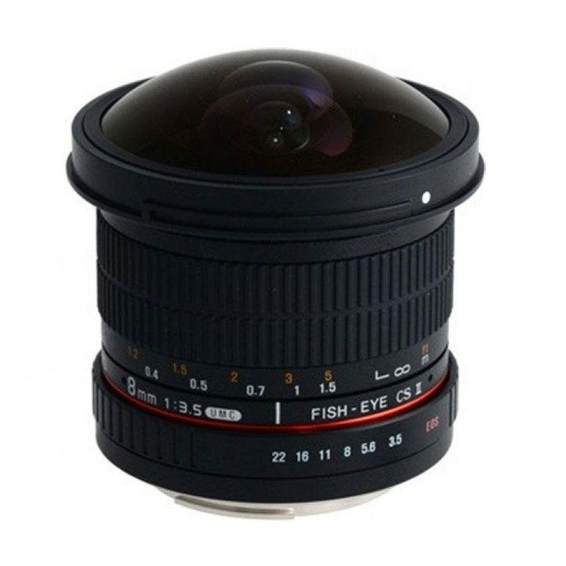 harga Samyang for Canon 8mm F/3.5 CS II Aspherical IF MC Fisheye DH Hitam Lensa Kamera Blibli.com