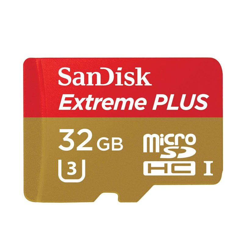 Sandisk Extreme Plus microSDHC UHS-I Memory Card [32GB/80 Mbps/Adapter]