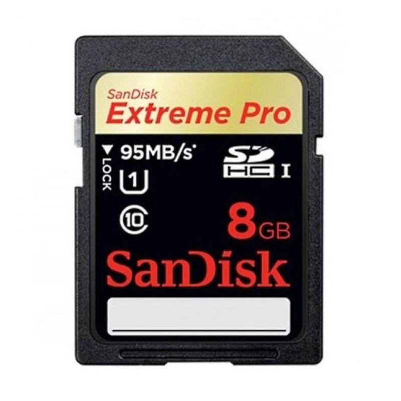 Sandisk Extreme Pro SDHC Class 10 Hitam Memory Card [8 GB] 8Gb 95Mb