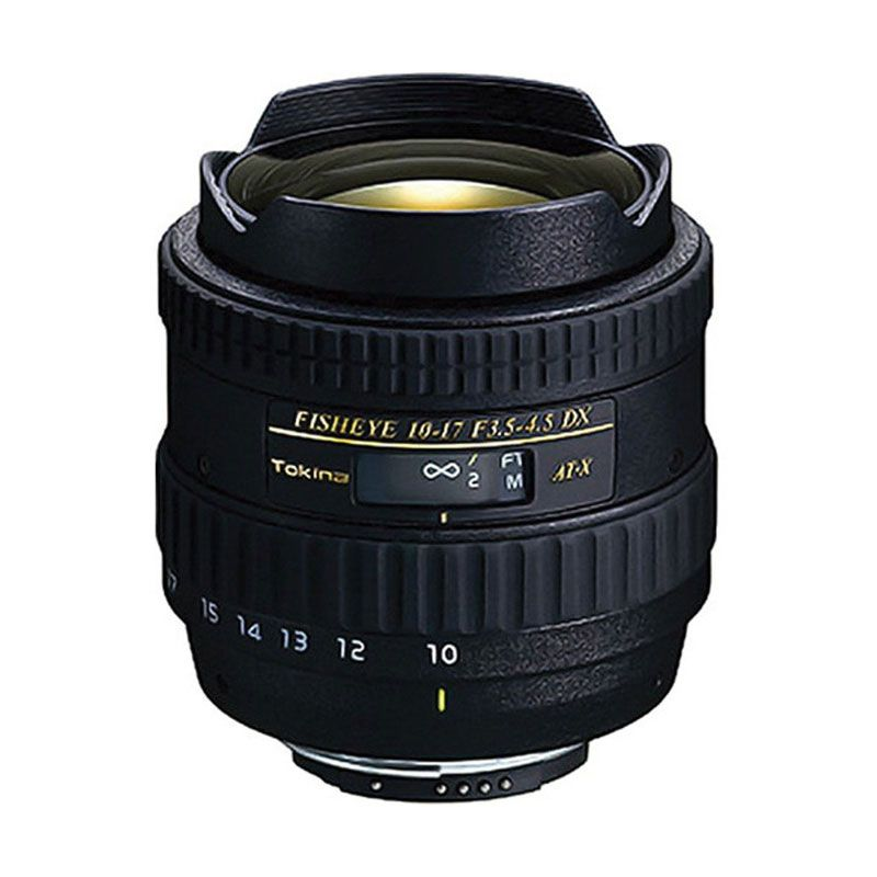 Tokina AT-X DX Fisheye 10-17mm f/3.5-4.5 Camera Lens for Canon