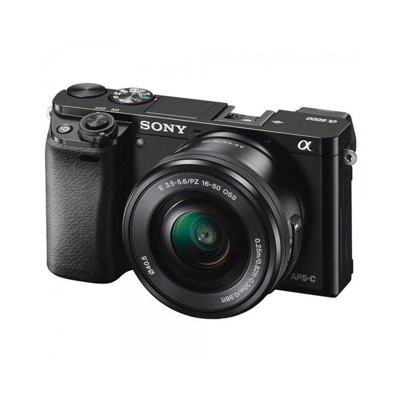 Sony Alpha A6000 Kit 16-50mm Kamera DSLR + Memory Card [8 GB]