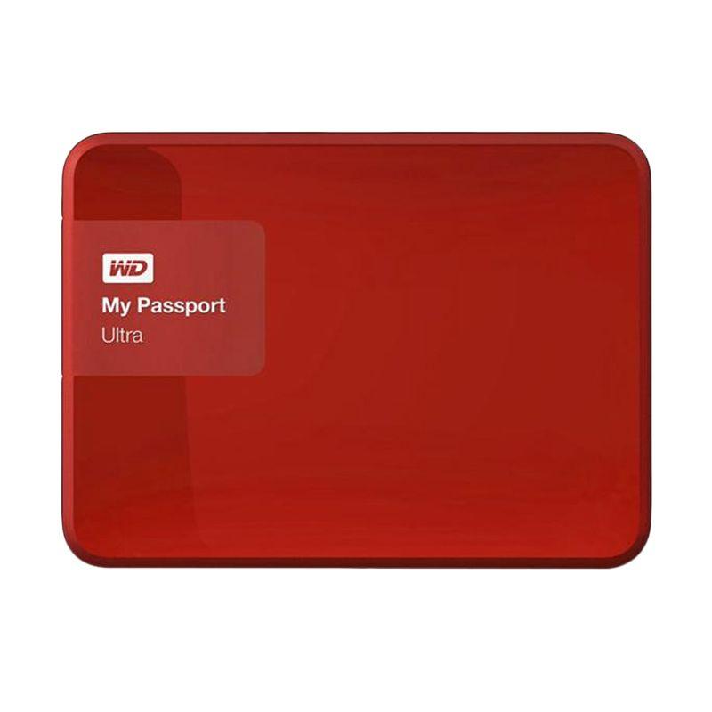 Western Digital My Passport Ultra New WDBGPU0010BBY-PESN Red Harddisk Eksternal [1 TB]