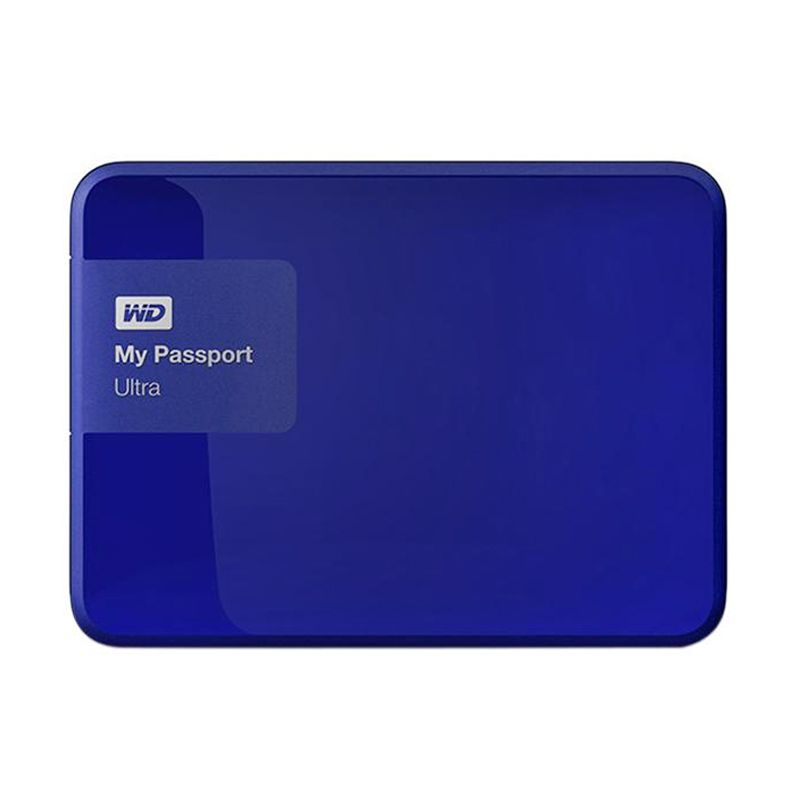 Western Digital My Passport Ultra New WDBWWM5000ABL-PESN Blue Harddisk Eksternal [500 GB]