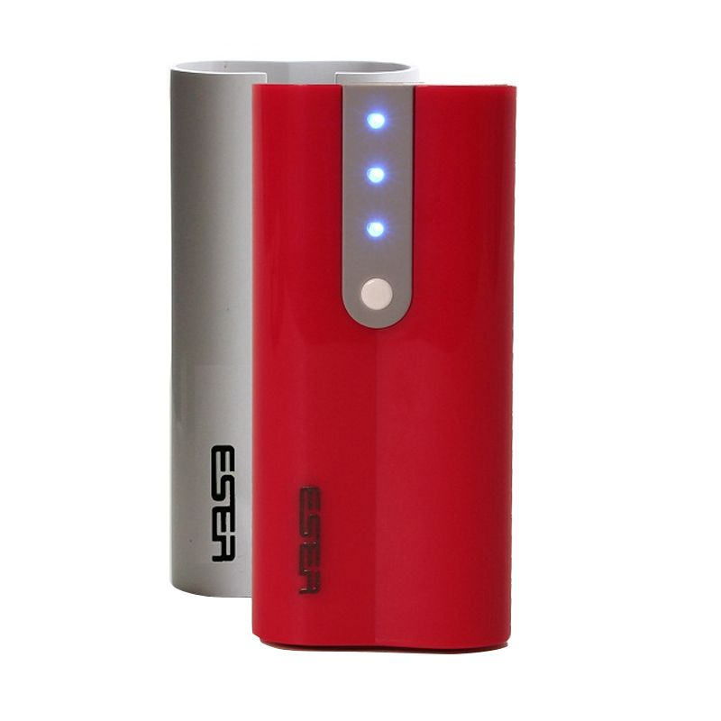Eser EU52DRW 2A 2 Casing Red White Power Bank [5200mAh]