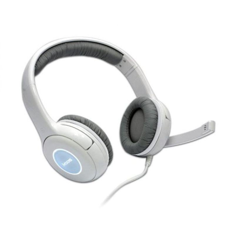 I-Rocks IH1-WE White Gaming Headset [LED Light/Volume Control]