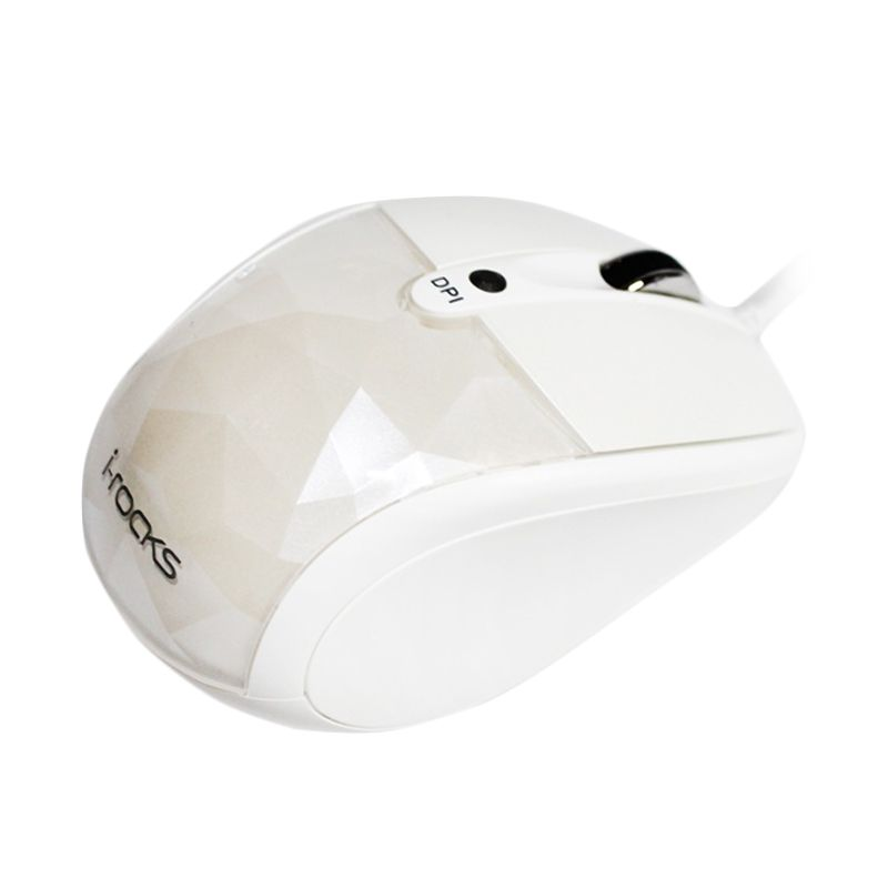 I-Rocks Diamond IR-7610L Putih Optical Mouse [1600 DPI]