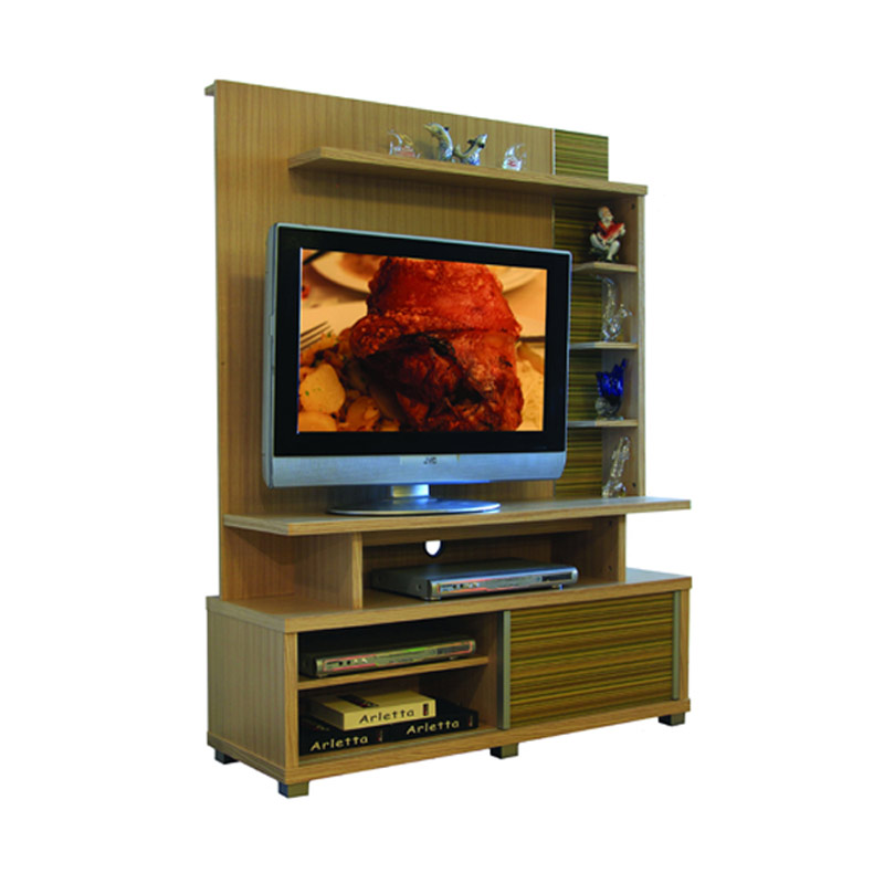 harga Creova TV Stand With Backdrop - Gold Blibli.com