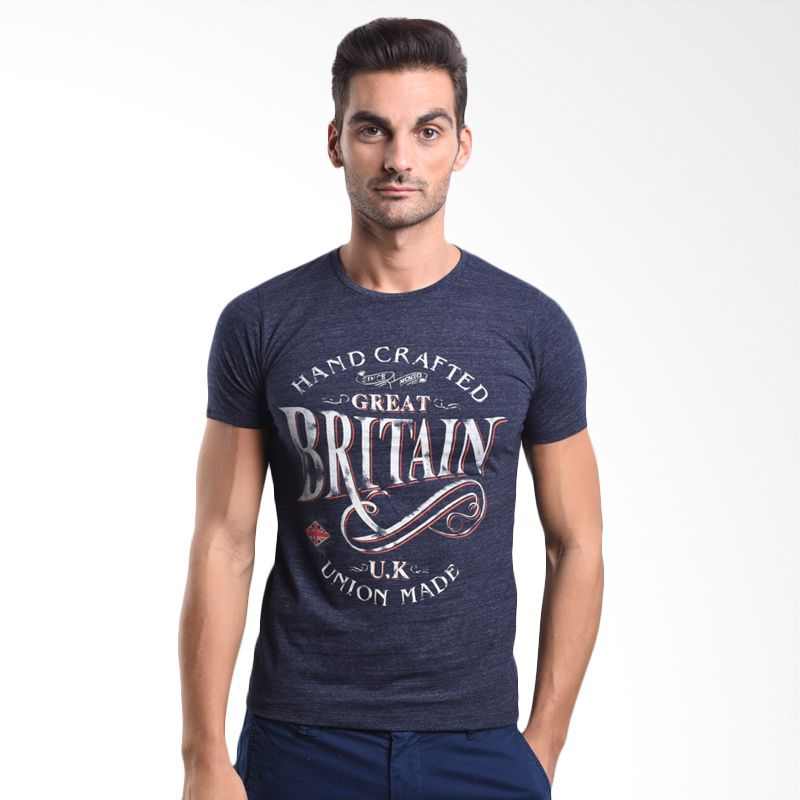 Cressida Hand Crafted Great Britain Navy 125A017 N T-Shirt Pria