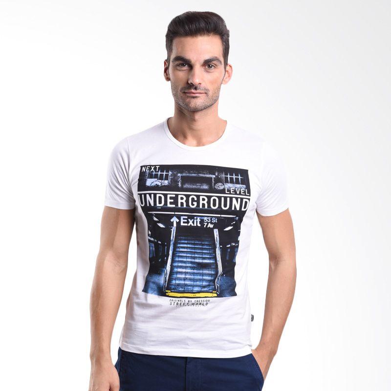 Cressida Underground Street World White 125G191 P T-Shirt Pria