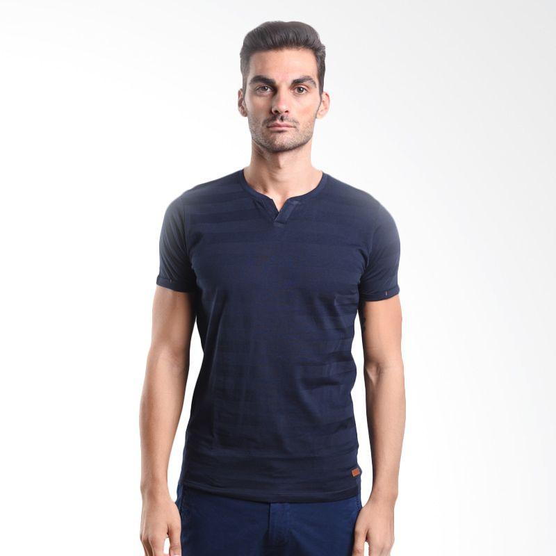 Cressida T-shirt Unfinished Basic Hanley Tee Navy 125F281 A